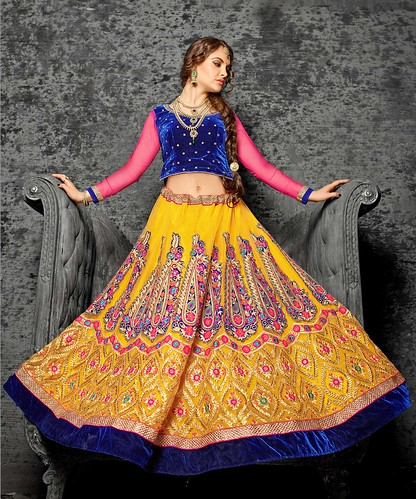 instagood extraordinary Yellow Lehenga....