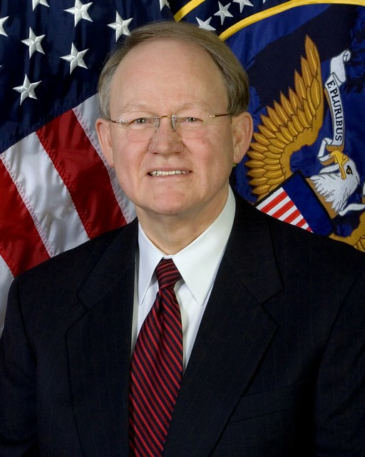 Portrait photograph of Mike McConnell