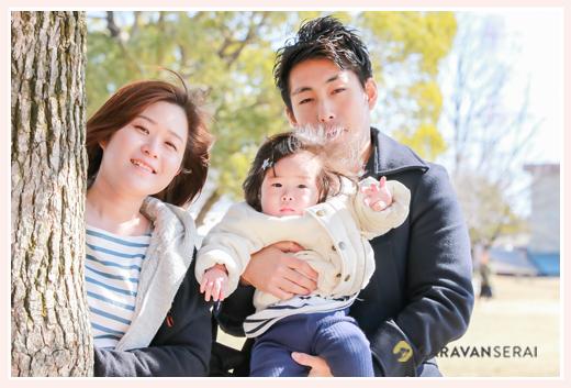 1才のお誕生日・初節句記念❤家族の写真の撮り方@落合公園(愛知県春日井市)