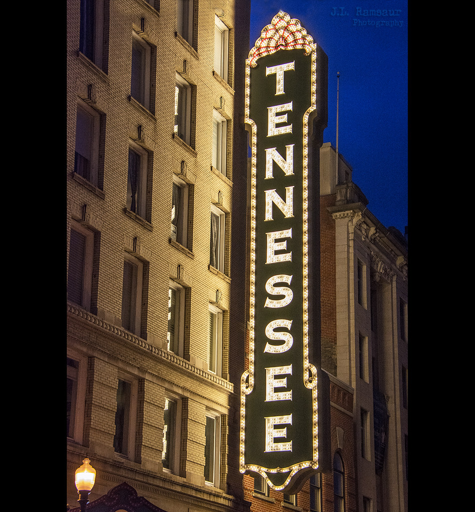 Carpet And Flooring Knoxville Tn: Tennessee Theater Sign - Knoxville, Tennessee