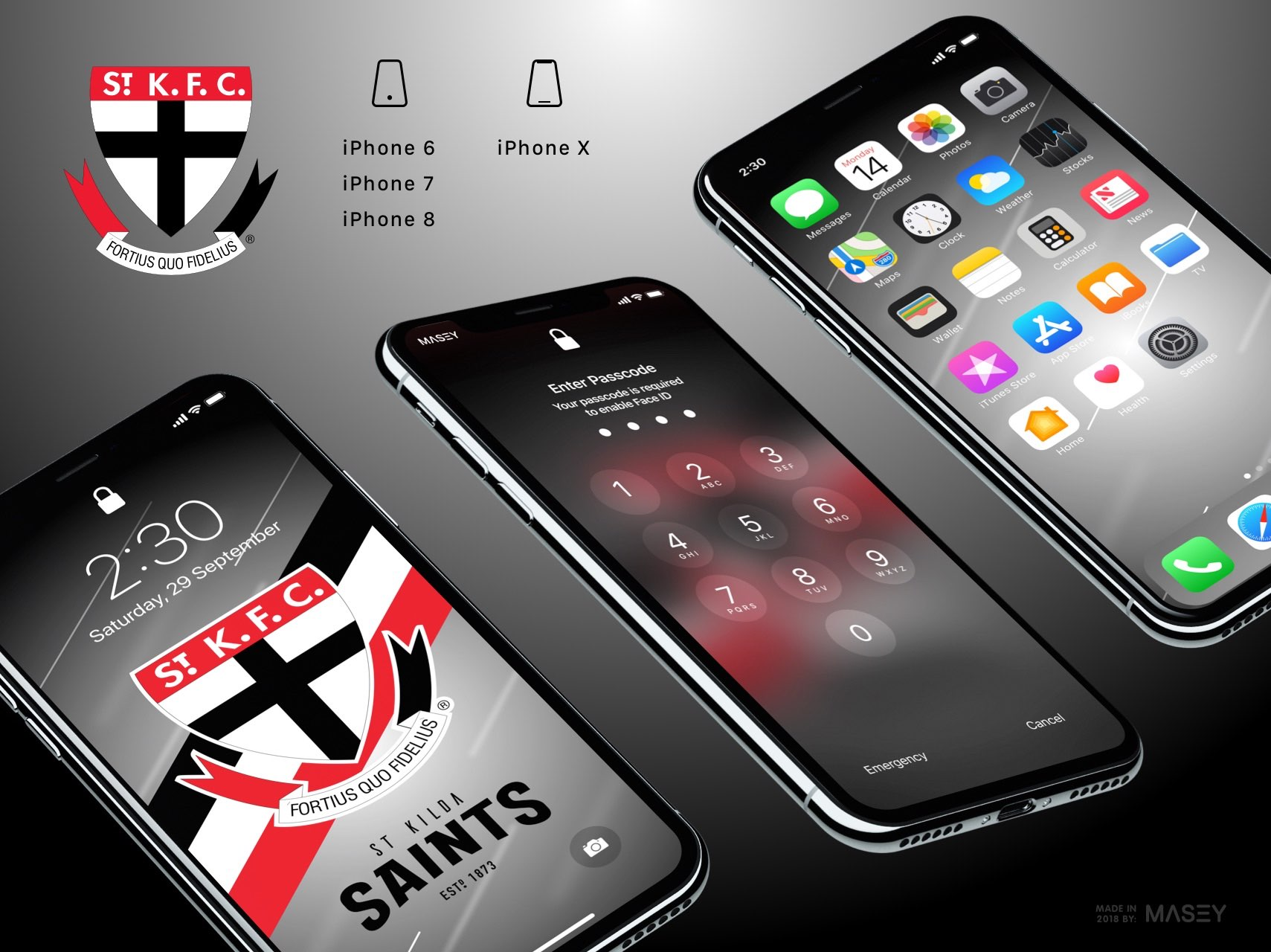St Kilda Saints iPhone Wallpaper
