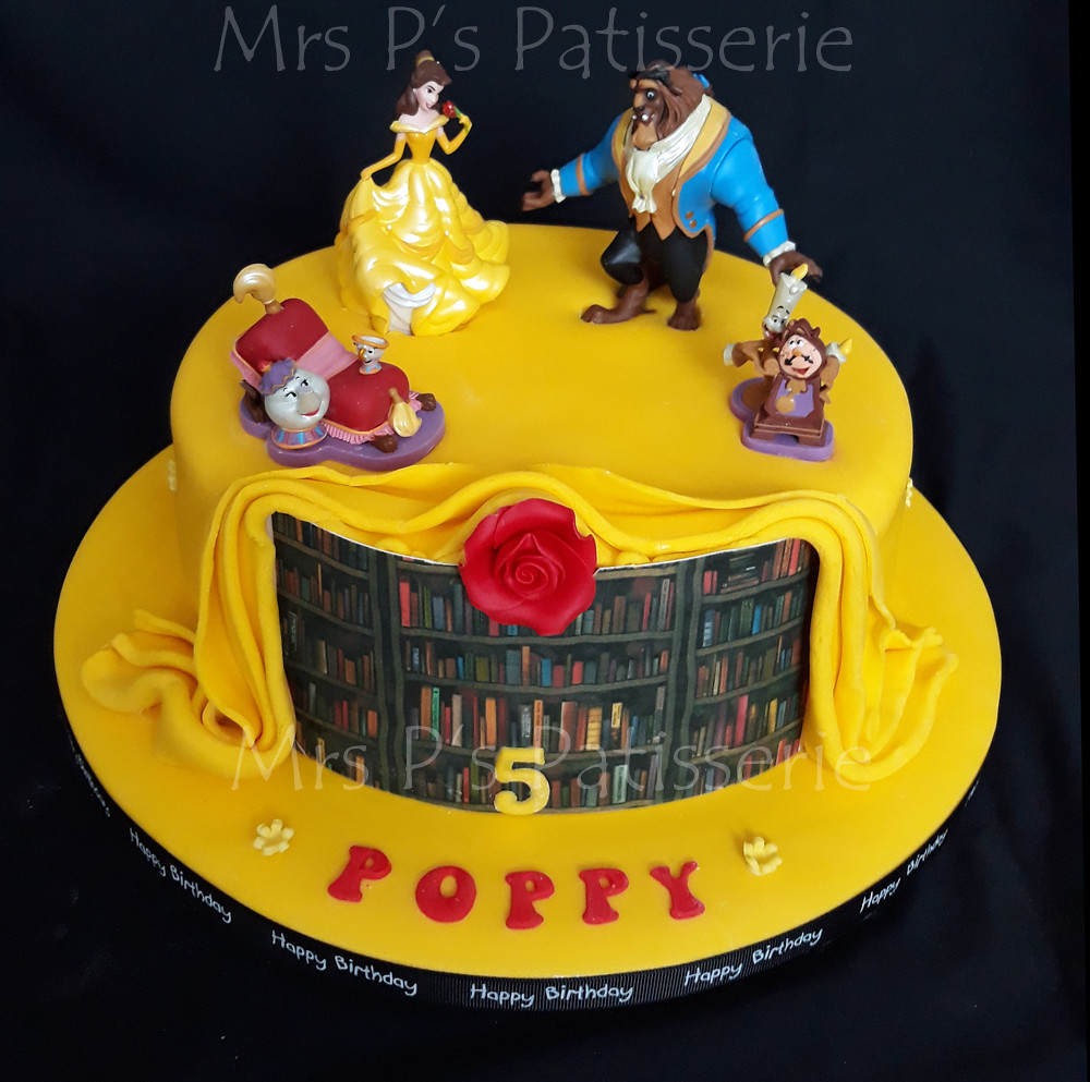 Beauty And The Beast Birthday Cake Mrs Ps Patisserie Flickr
