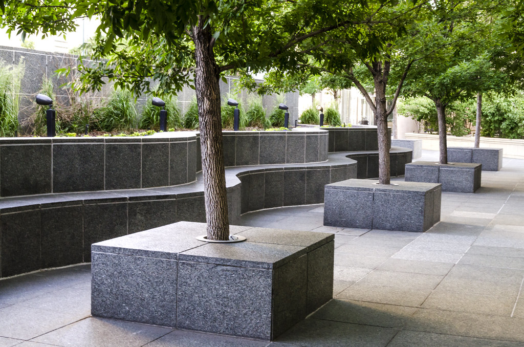 Trees In Planter Boxes Curves And Angles In The Same Photo Flickr