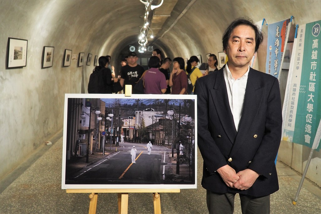 日戰地記者豐田直巳來台展出幅島核災後的攝影作品。攝影:李育琴