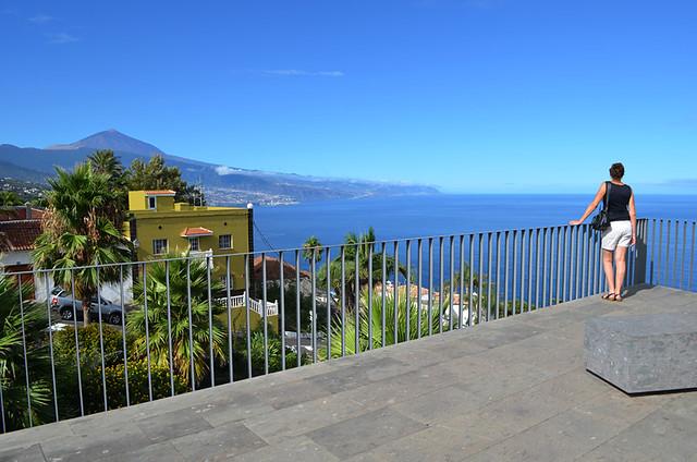 View from church plaza, El Sauzal, Tenerife