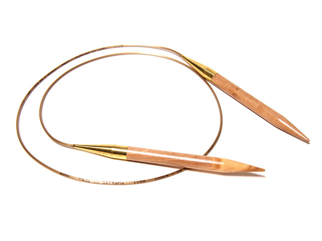 Addi Olive Wood 100cm circular knitting needles – 10mm