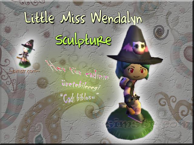 The Sims 2 Apartment Life Apartman Hayatı Witchiness Cadılık Little Miss Wendalyn Sculpture