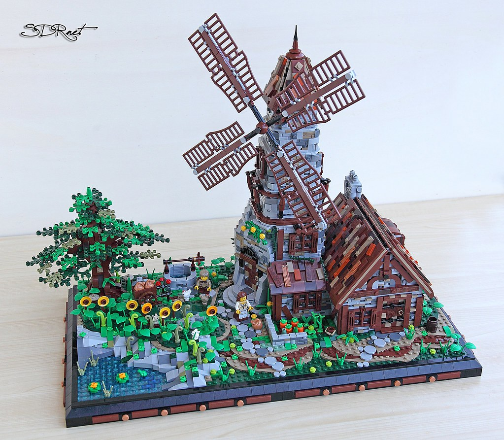 Minecraft Lego House Medieval Windmill   I ...
