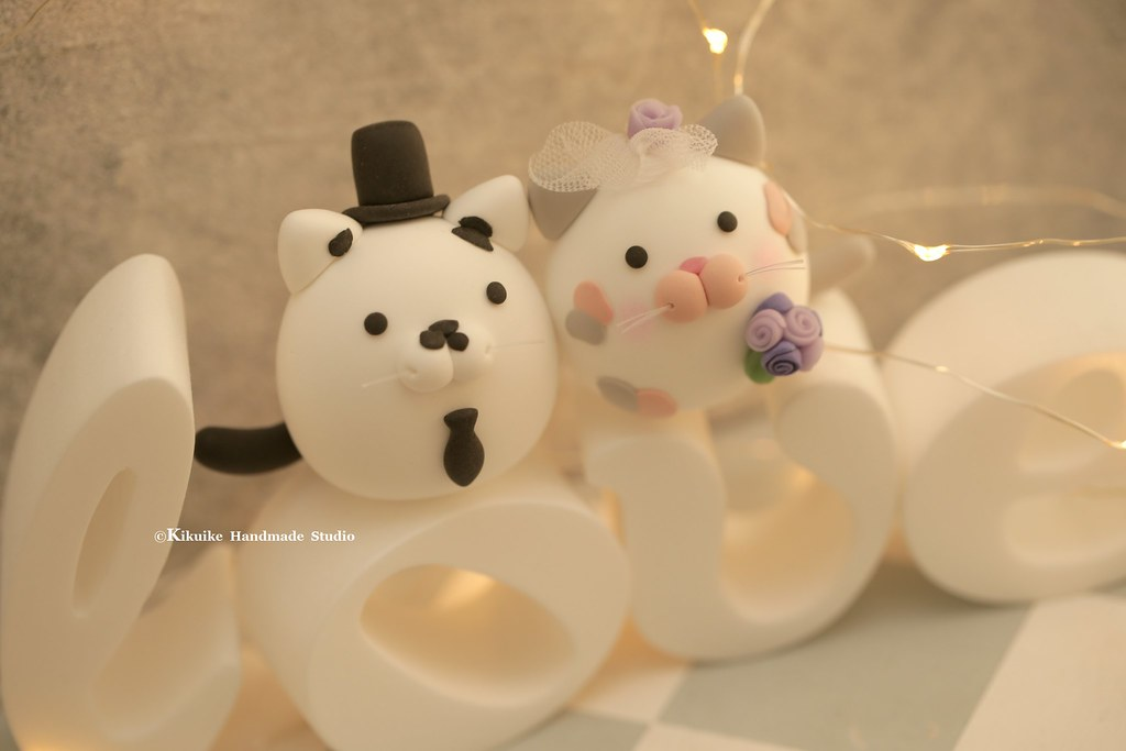 kitty and Cat MochiEgg wedding cake topper, pets wedding c…   Flickr