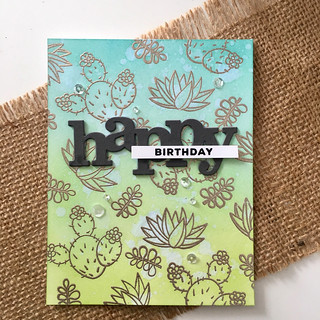 Happy birthday succulent card | by Kimberly Toney