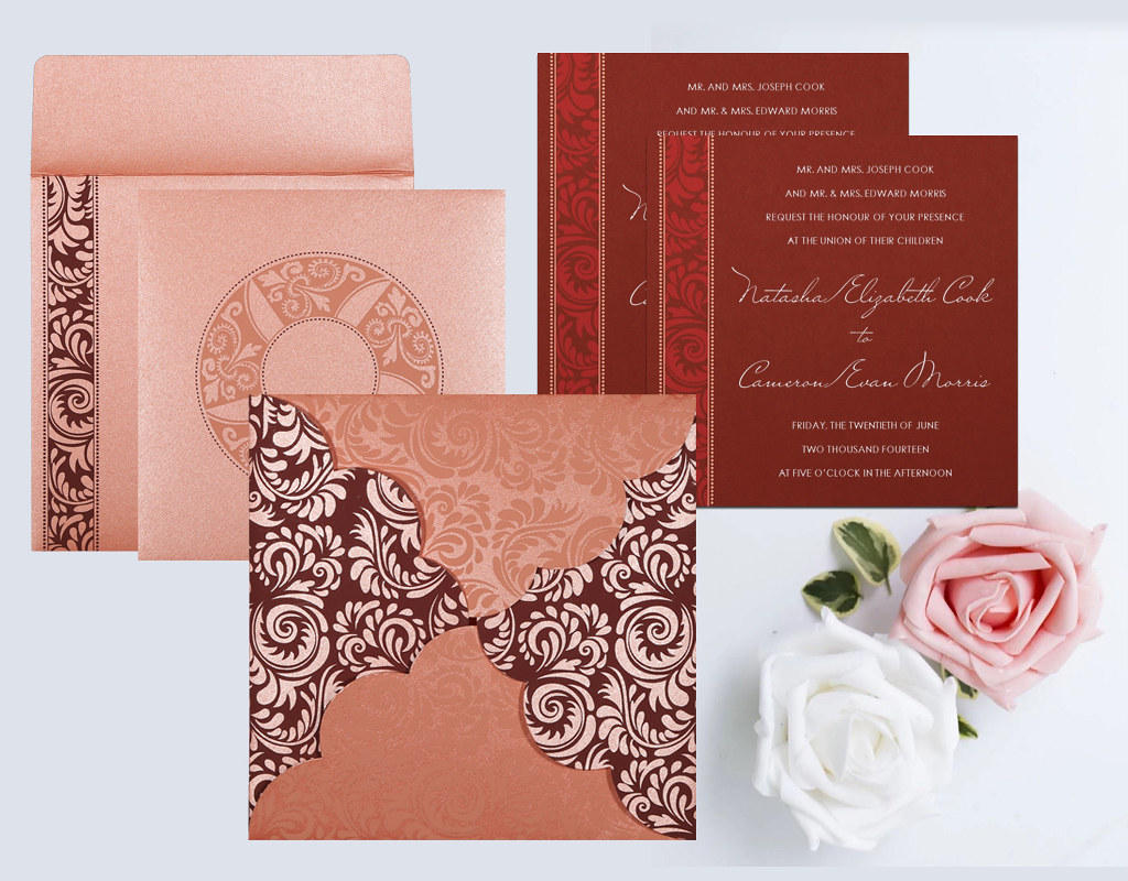 PINK SHIMMERY FLORAL THEMED - SCREEN PRINTED WEDDING CARD … | Flickr