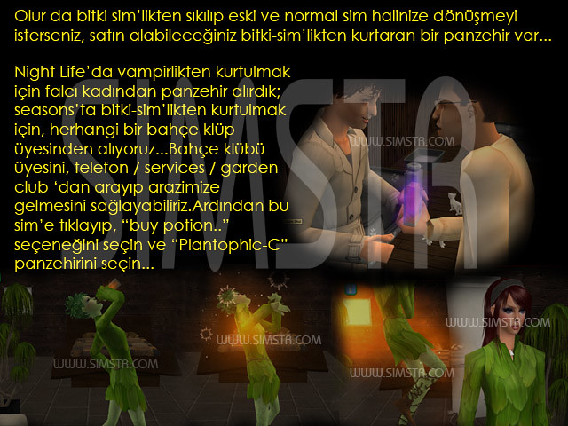 The Sims 2 Seasons Plantsim Cure Plantophic-C Bitki Adamlıktan Kurtulma İksiri