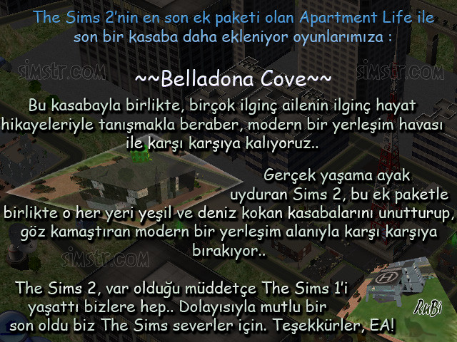 The Sims 2 Apartment Life Apartman Hayatı Yeni Kasaba Şehir Belladona Cove