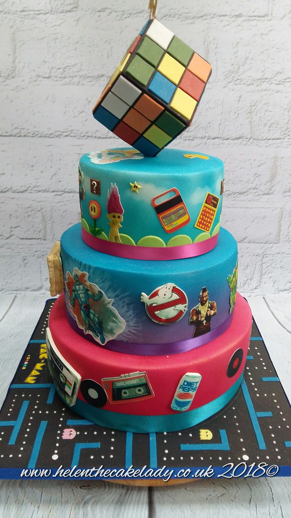 80s Themed With Rubix Cube