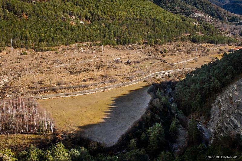 El Bastareny y el Camp del Coix desde la Vía del Nicolau