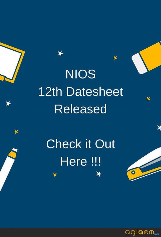 NIOS 12th Date sheet April 2018