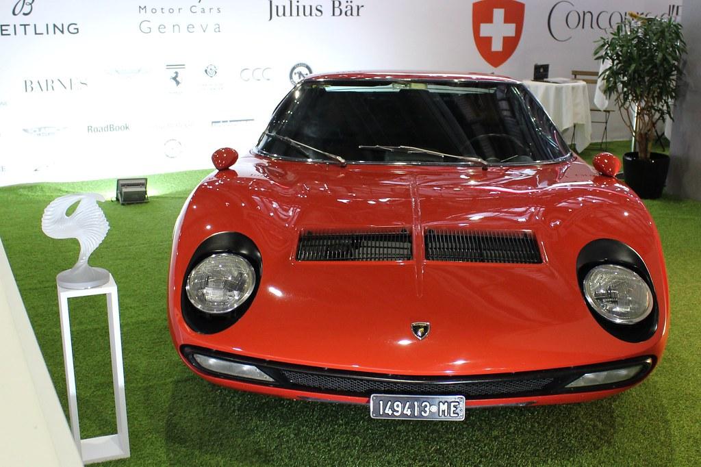 1971 Lamborghini Miura Sv Geneva Motor Show 2018 Flickr
