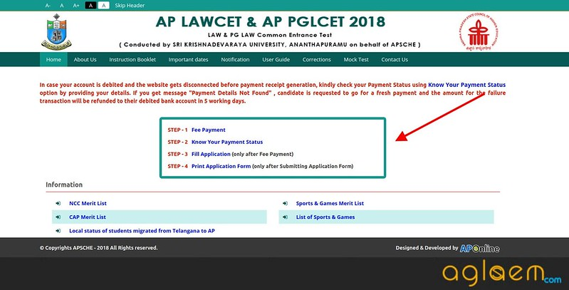 AP LAWCET 2018 Online Application Form - Apply Online