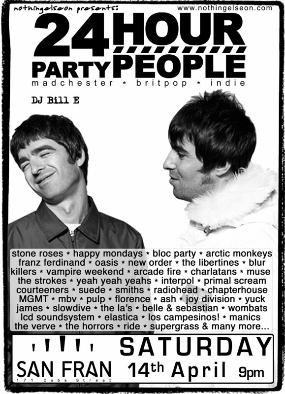24 Hour Party People poster, 14 April 2018