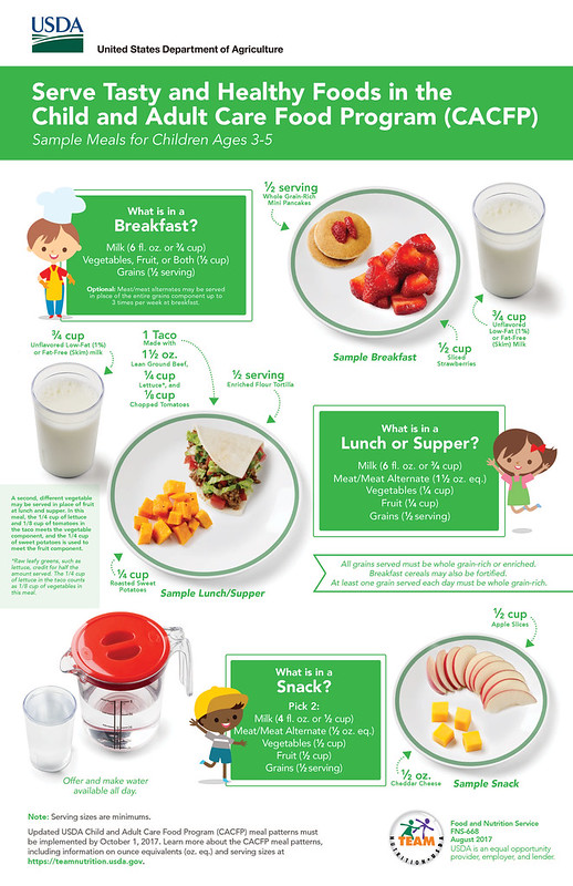 Serve Tasty and Healthy Foods in the Child and Adult Care Food Program infographic
