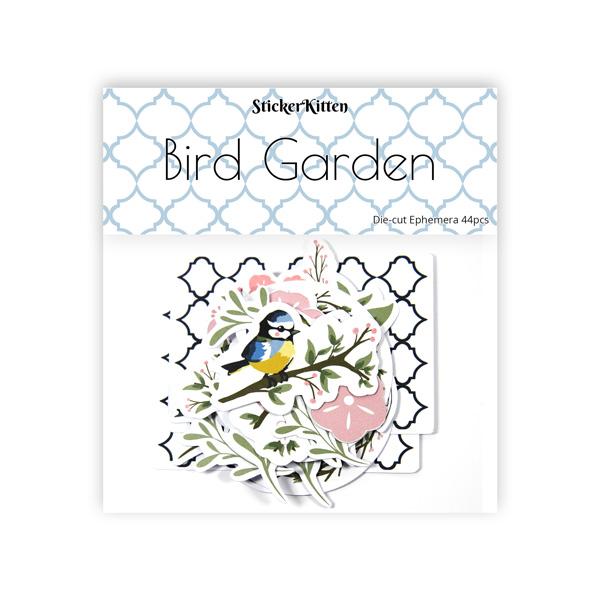 StickerKitten Bird Garden craft range - die cut ephemera toppers