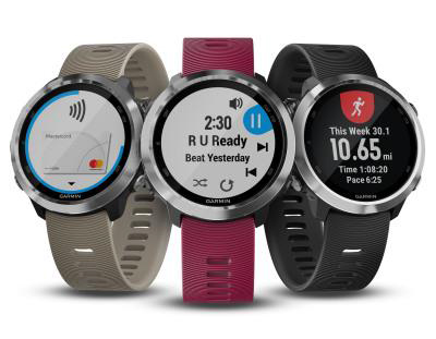 Garmin Forerunner 645 Music & Forerunner 645 GPS smart watch.