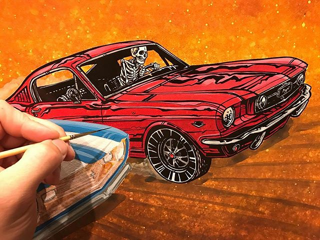 Working On A Muscle Car Painting That Will Be Released At Flickr