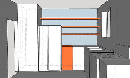 Northern wall plan with shelves | by Terrific Broth