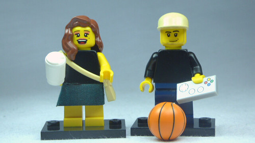 Brick Yourself Custom Lego Figures Coffee Girl & Game Boy | by BrickManDan