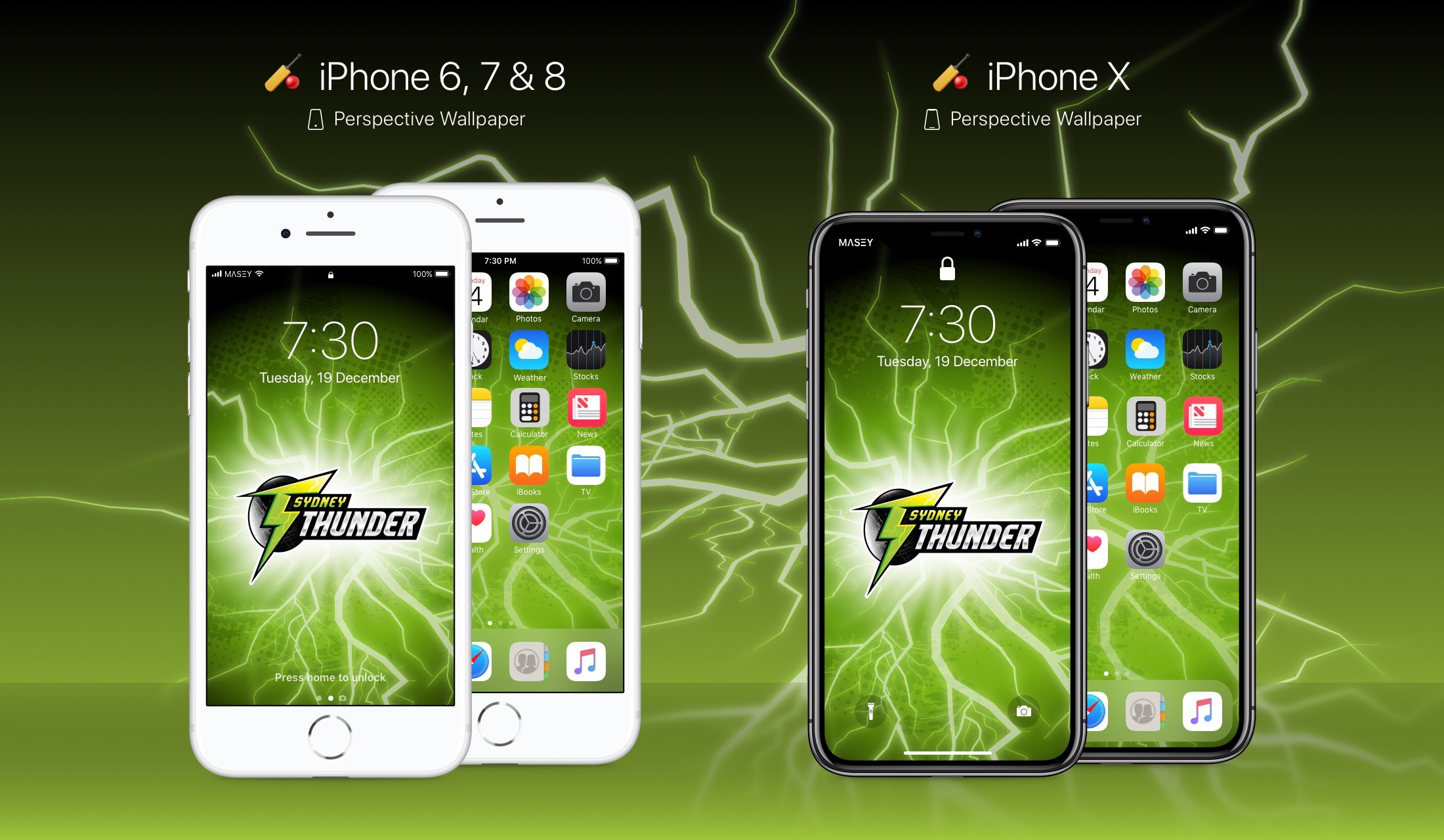 Sydney Thunder iPhone Wallpaper