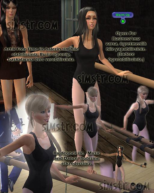 The Sims 2 FreeTime Hobbies Music Dance Müzik Dans Hobisi