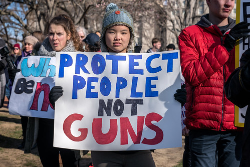 Protect People Not Guns, a student participating in National Walkout Day at the White House, Washington DC | by Lorie Shaull