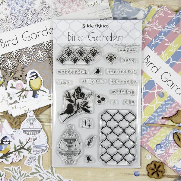 Bird Garden craft range by StickerKitten