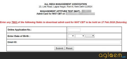MAT 2019 Admit Card | Know the Details of AIMA MAT Admit Card 2019  %Post Title, %Post Category, AglaSem
