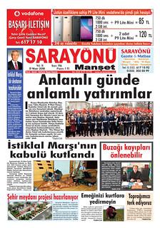 Sarayönü Manşet Gazetesi
