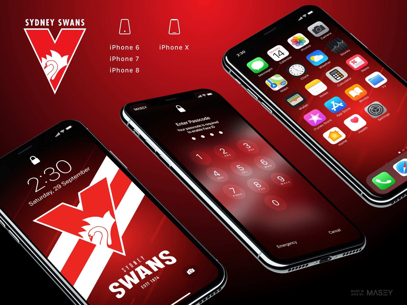 Sydney Swans iPhone Wallpaper