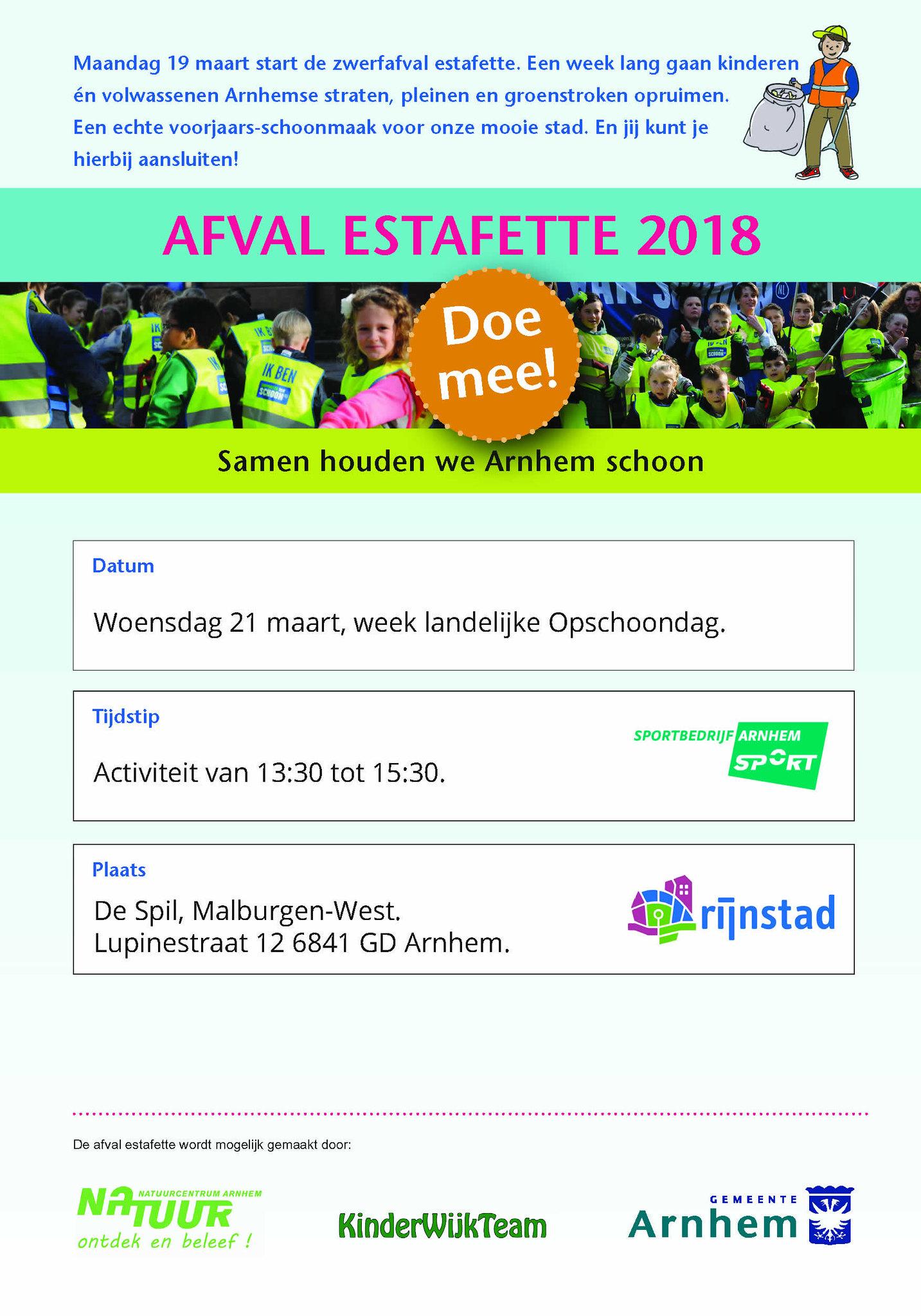 flyer Afval Estafette