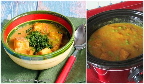 Curry mit Erbsen und Käse – Paneer mattar (2)