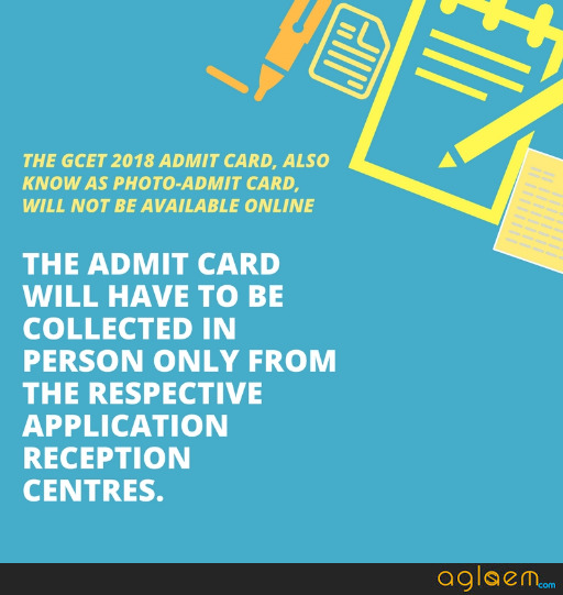 GCET 2018 Admit Card