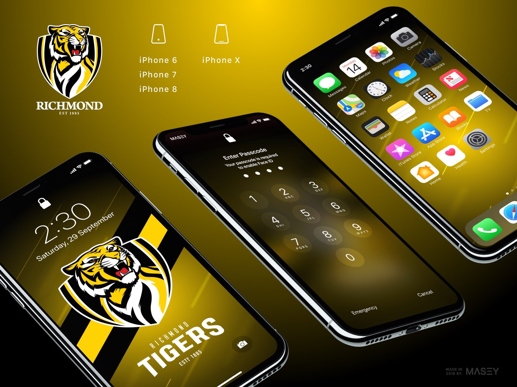 Richmond Tigers iPhone Wallpaper