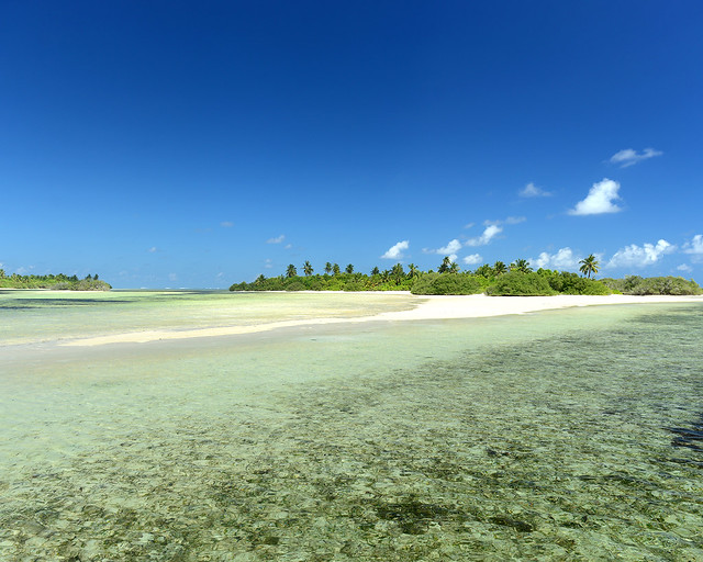 Una de las playas más espectaculares que vimos en Maldivas