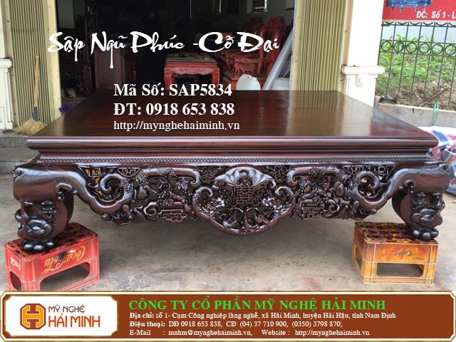 SAP5834a Sap gu Ngu Phuc co Dai do go my nghe hai minh