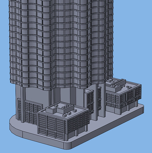 1:2000 World Trade Center Residential Tower Base | by Doctor Octoroc