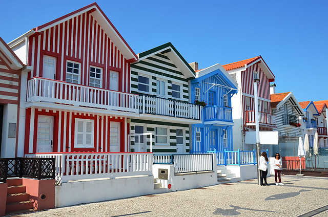 Typical Houses, Costa Nova, Portugal