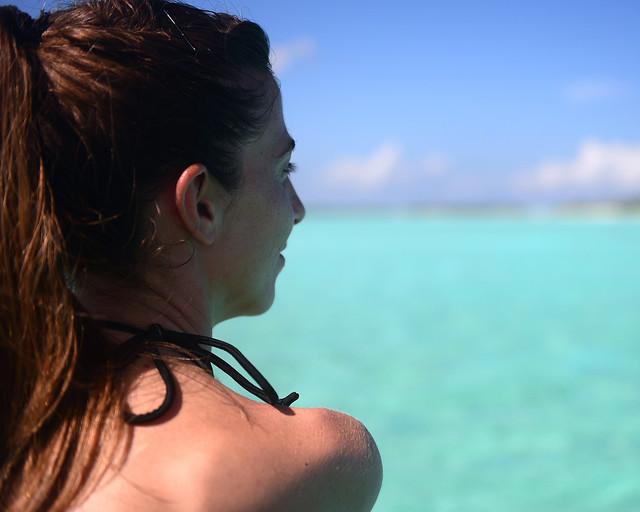 Diana, feliz, en Maldivas