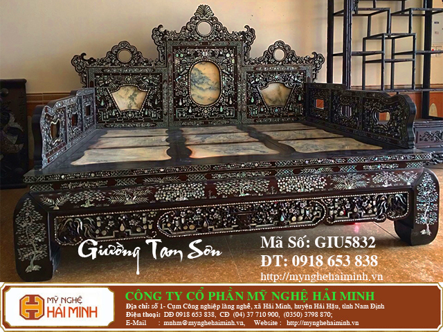 GIU5832k Giuong Tam Son Kham Oc do go my nghe hai minh