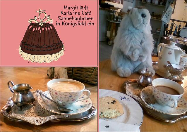 Karla Kunstwadl im Café Sahnehäubchen in Königsfeld
