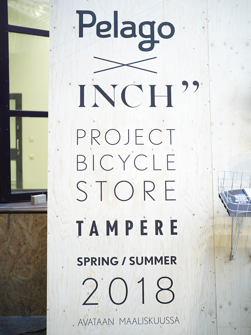 Pelago x INCH Project Bicycle Store Tampere