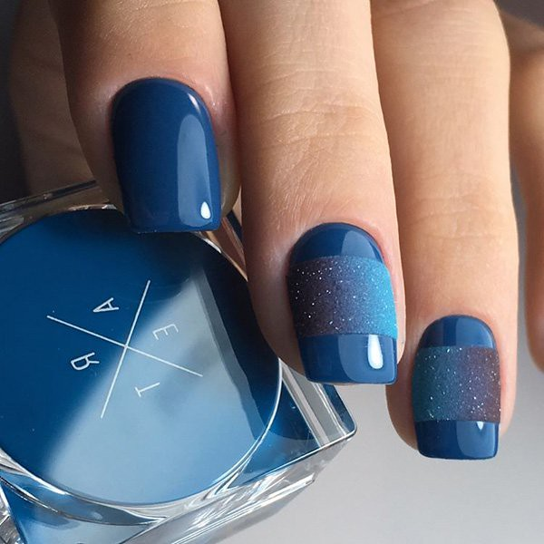 Blue Chrome Nails Solid Color Nail Art Ideas Flickr