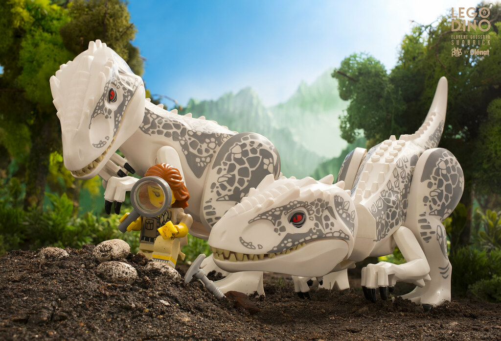 Allosaurus and a bold paleontologist lego dino don 39 t - Lego dinosaures ...